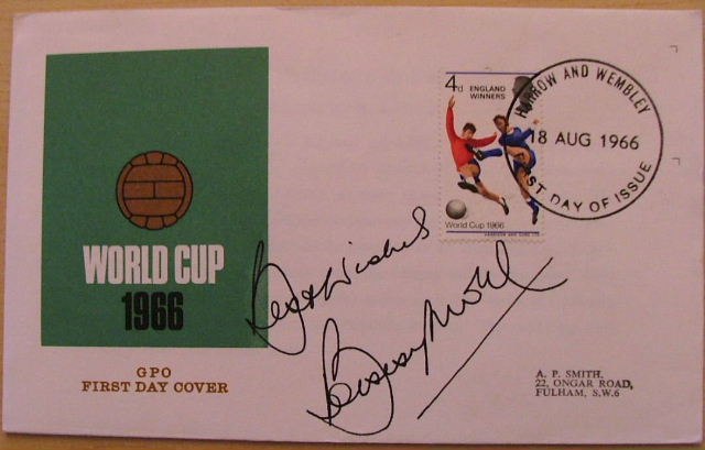 Image for Bobby Moore Signed First Day Cover