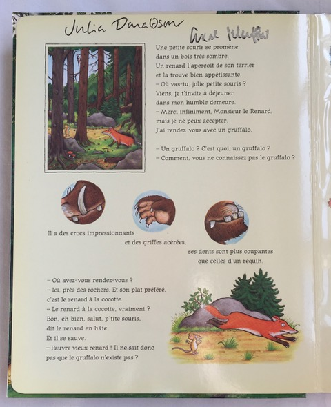 Image for The Gruffalo DOUBLE SIGNED FRENCH JIGSAW BOOK FIRST EDITION