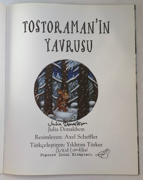 Image for The Gruffalo's Child Signed Turkish