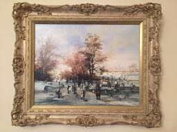 Image for A Winter Day in The Park ORIGINAL BRAAQ OIL PAINTING