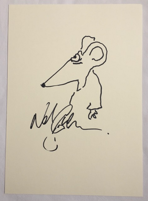 Image for Coraline Neil Gaiman ORIGINAL RARE DRAWING ILLUSTRATION