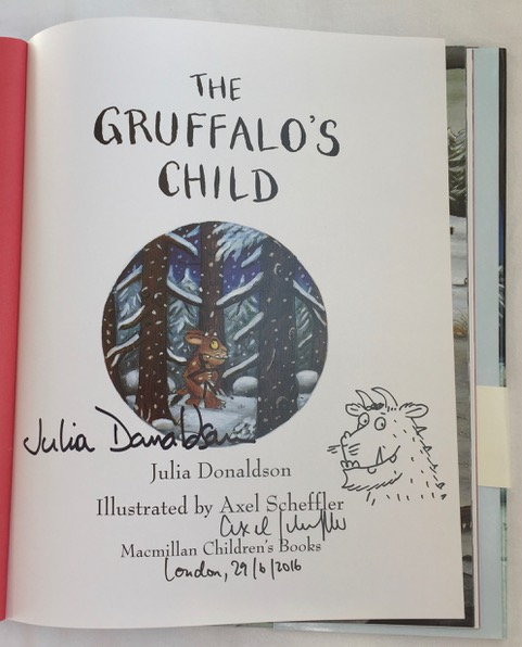Image for The Gruffalo's Child DOUBLE SIGNED with Original Axel Scheffler Drawing