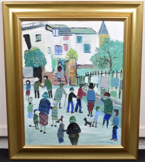 Image for Street Scene ORIGINAL Fred Yates Oil Painting