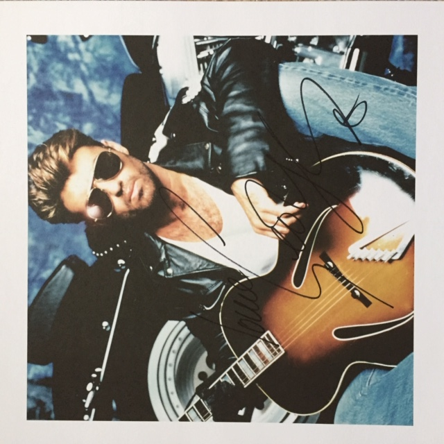 Image for George Michael, Faith AUTOGRAPHED ART PRINT LIMITED EDITION