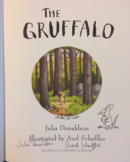 Image for The Gruffalo DOUBLE SIGNED with Original Axel Scheffler Drawing
