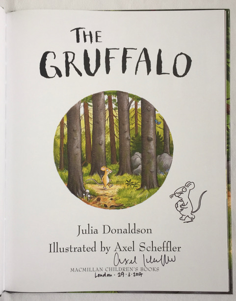 Image for The Gruffalo SIGNED with Original Axel Scheffler Drawing