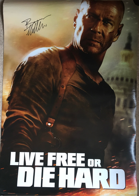 Image for Bruce Willis SIGNED Die Hard Poster