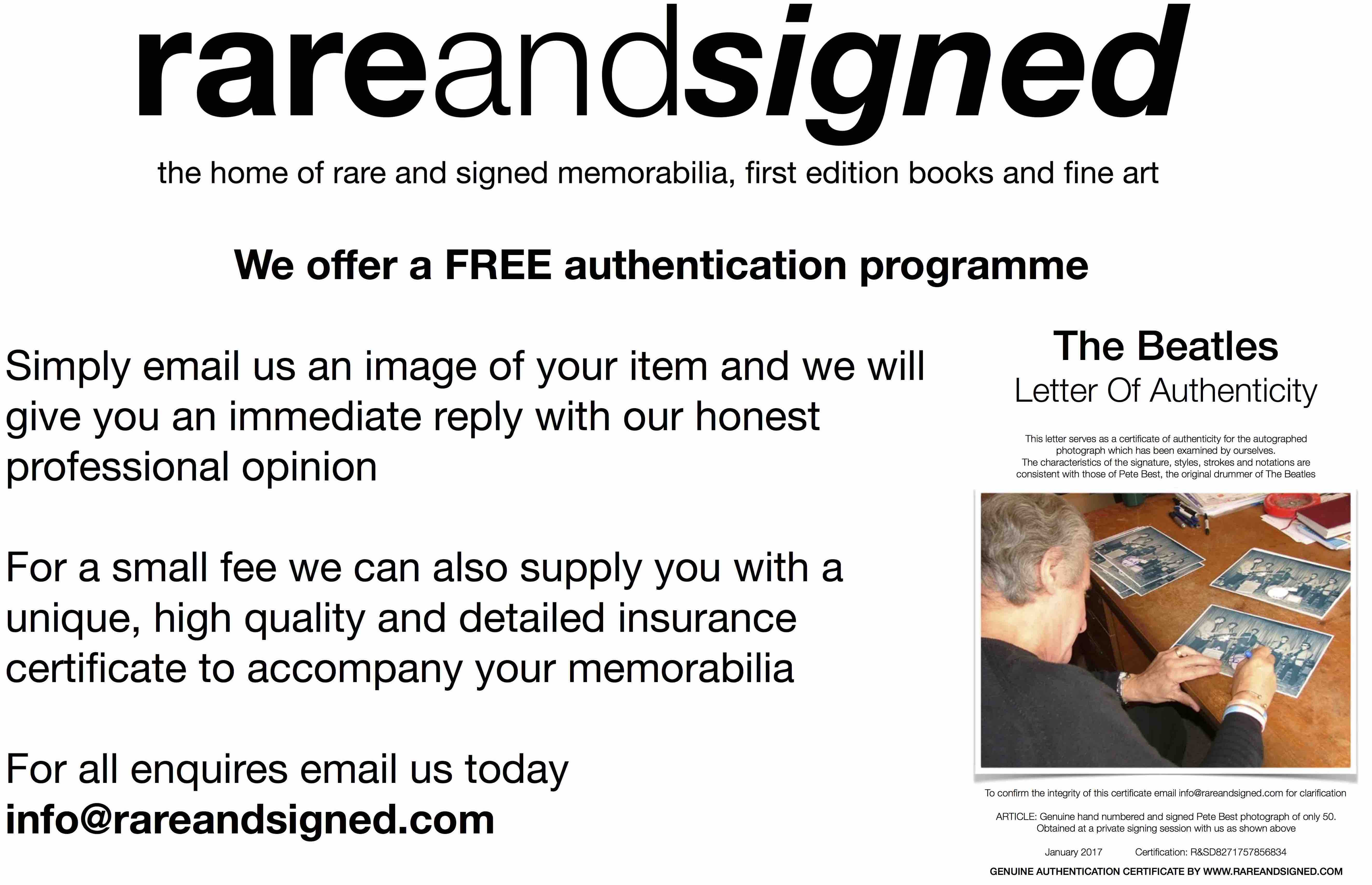 FREE MEMORABILIA AUTHENTIFICATION - IS IT GENUINE ? CHECK TODAY FOR FREE !